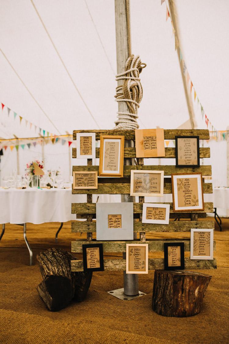 Seating Plan Table Chart Rustic Frames Wooden Pallet Joyful Homespun Humanist Farm Camping Wedding https://aniaames.co.uk/