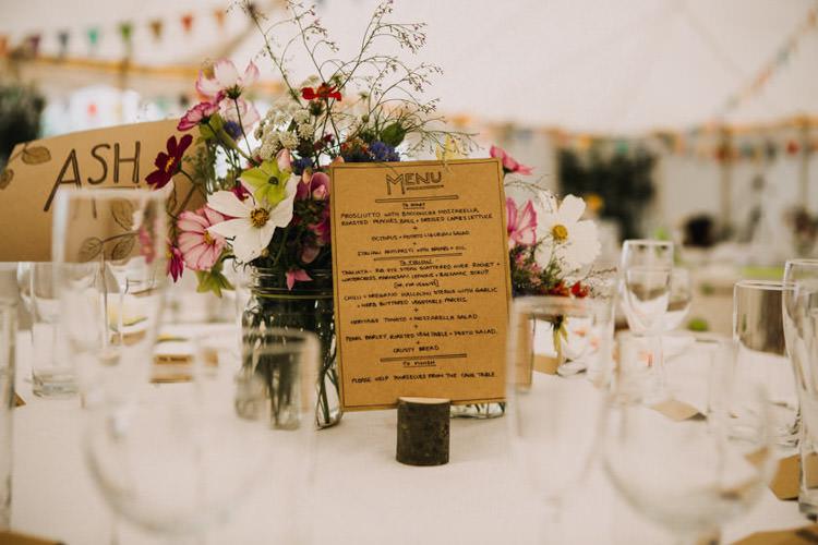 Kraft Brown Paper Stationery Menu Joyful Homespun Humanist Farm Camping Wedding https://aniaames.co.uk/