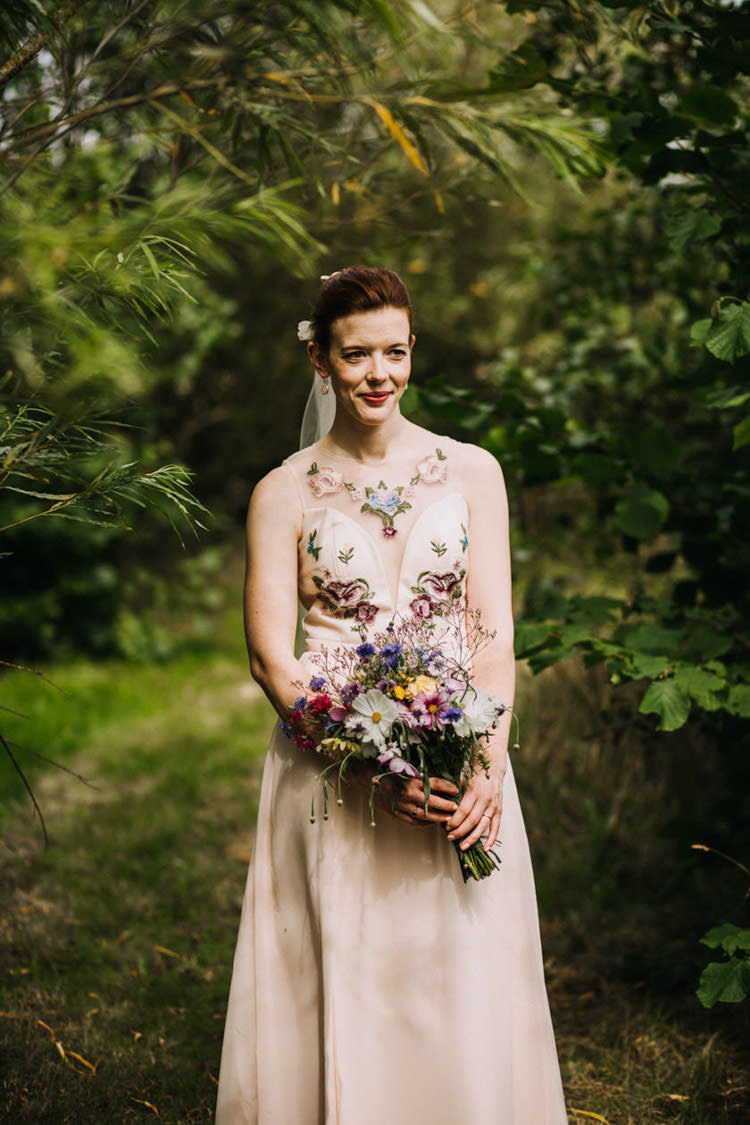 ASOS Floral Dress Gown Bride Bridal Joyful Homespun Humanist Farm Camping Wedding https://aniaames.co.uk/