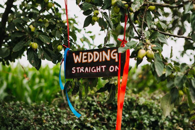 Sign Chalk Black Board Ribbons Joyful Homespun Humanist Farm Camping Wedding https://aniaames.co.uk/