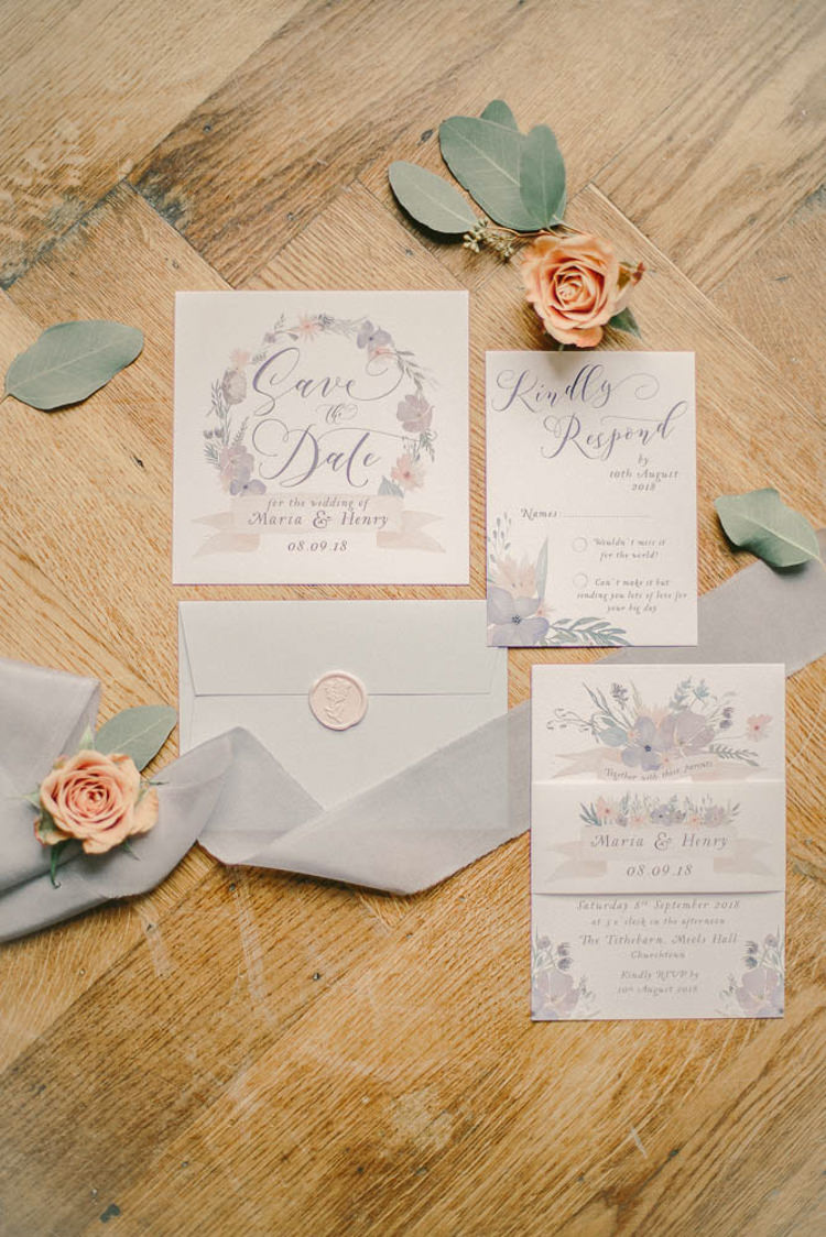 Stationery Calligraphy Floral Invitations Beautiful Fine Art Country House Wedding Ideas https://www.theblushingpeony.co.uk/