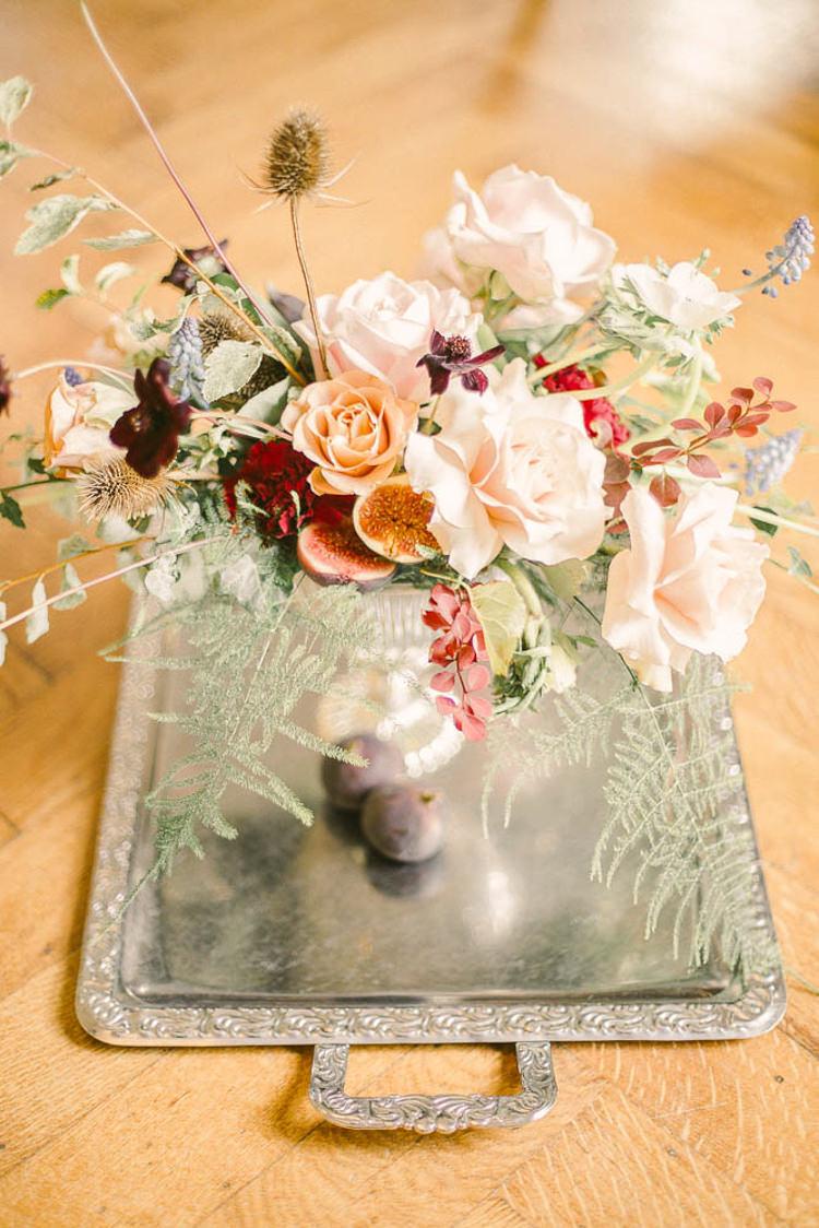 Flowers Peach Blush Rose Thistle Beautiful Fine Art Country House Wedding Ideas https://www.theblushingpeony.co.uk/