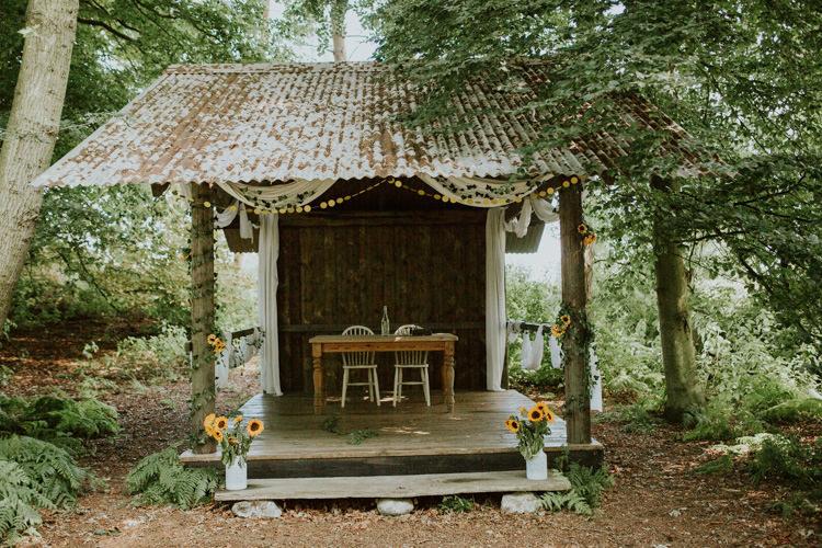 Field Outdoor Garden Hippie Summer Hush Venues Elderwood Woodland | Happy Outdoor Forest Mustard Yellow Wedding http://suzi-photography.com/