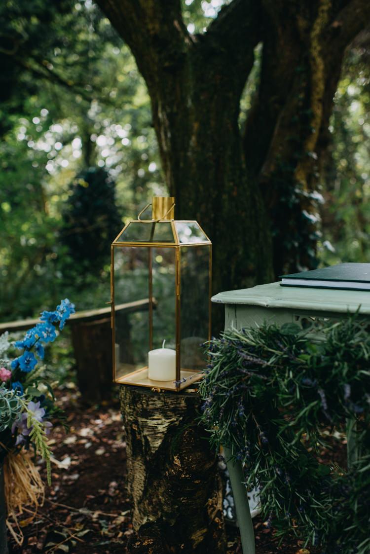 Hurricane Lantern Candle Magical Woodland Family Wedding http://photographybyclare.co.uk/