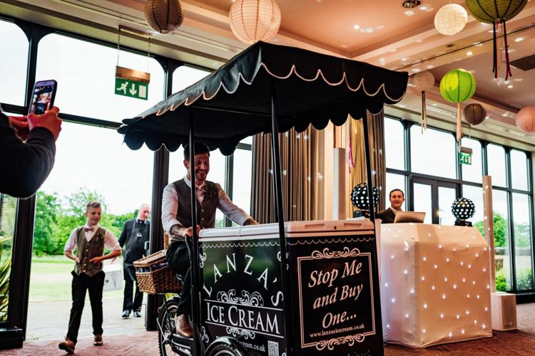 Ice Cream Bicycle Italian Truck Boho DIY Secret Garden Wedding https://bibandtuckerphotography.co.uk/