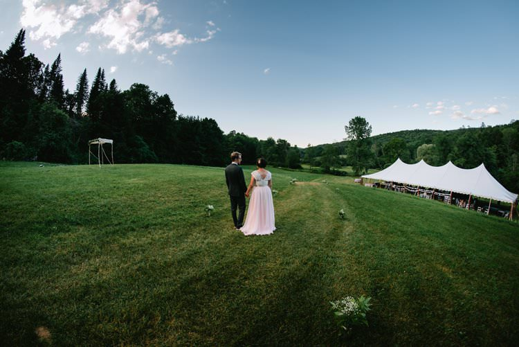 Outdoor Field Forest Wild Nature Marquee Tipi Bride Groom | Breathtaking Secluded Back Garden Open Sided Tent Wedding Vermont https://kickasscouples.com/