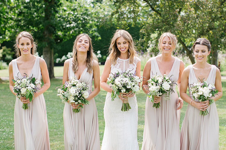 Nude Bridesmaid Dresses Understated Elegance Greenery Natural Wedding Gaynes Park Essex http://ilariapetrucci.co.uk/