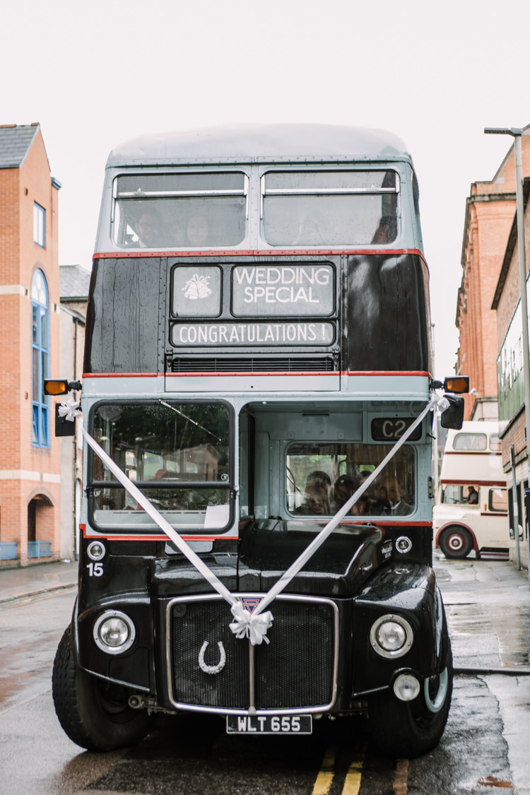 Wedding Bus Transport Fun DIY Wedding New Walk Museum Leicester https://www.daniellefrancescaphotography.com/