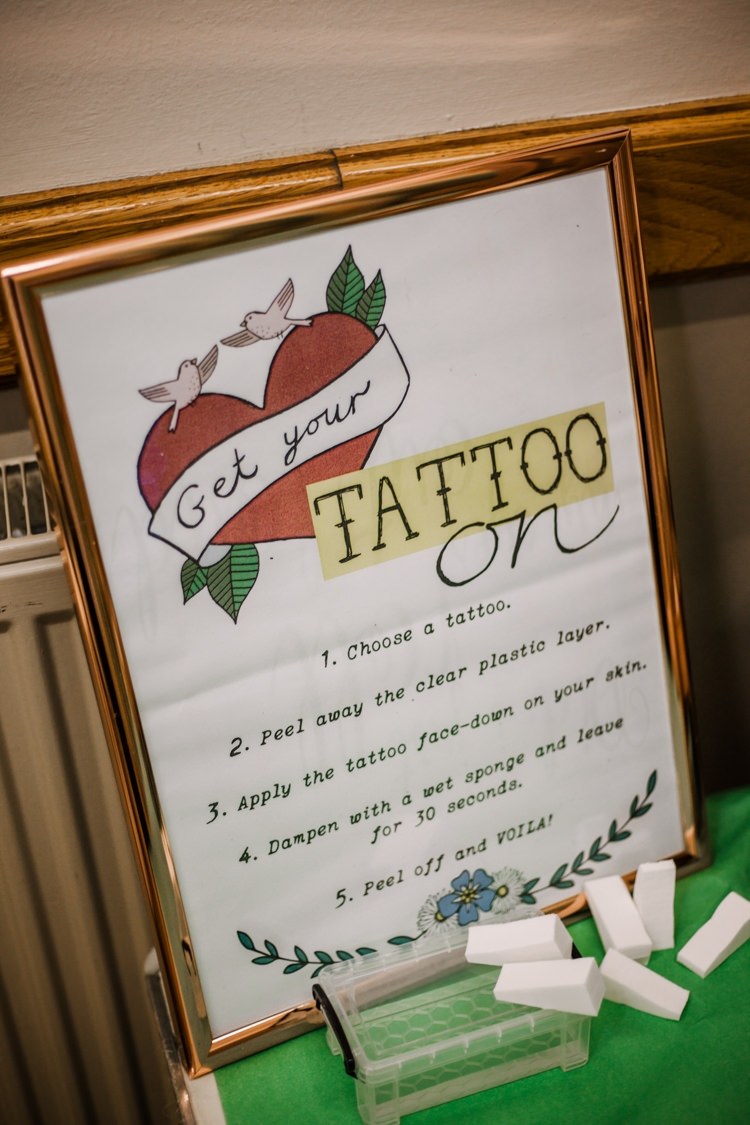 Temporary Tattoo Station Transfer Fun DIY Wedding New Walk Museum Leicester https://www.daniellefrancescaphotography.com/