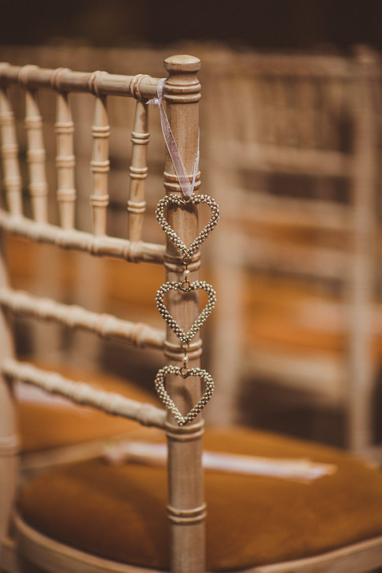 Chairs Aisle Hearts Ceremony Pew End Rustic Relaxed Woodsy Alnwick Treehouse Northumberland Wedding http://www.mattpenberthy.com/