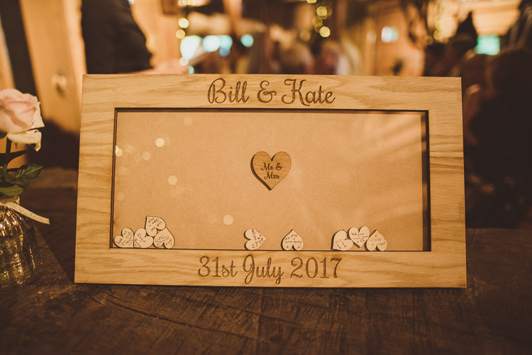 Wooden Drop Heart Guest Book Frame Rustic Relaxed Woodsy Alnwick Treehouse Northumberland Wedding http://www.mattpenberthy.com/