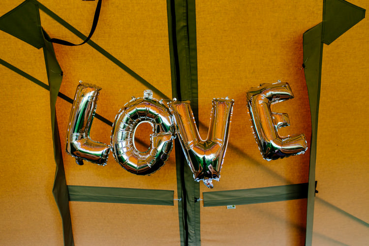 Love Balloons Bright Fun Festival Boho Wedding The Party Field East Sussex http://epiclovestory.co.uk/