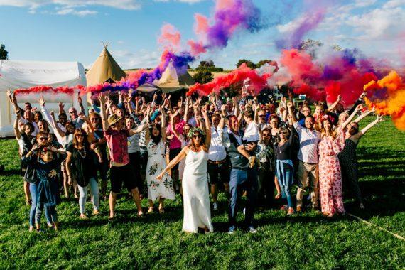 Bright Fun Festival Boho Wedding The Party Field Kent http://epiclovestory.co.uk/