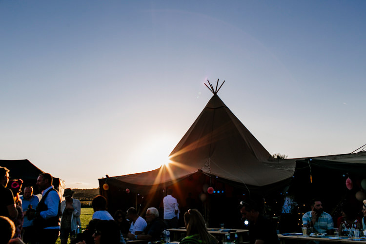 Tipi Bright Fun Festival Boho Wedding The Party Field East Sussex http://epiclovestory.co.uk/