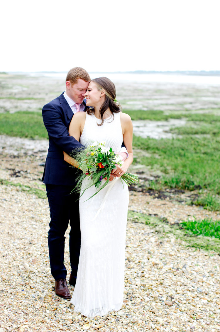 High Neck Dress Gown Bride Bridal Shift Beaded Modern Simple Colourful Garden Wedding http://www.helencawte.com/
