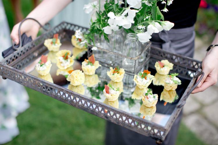 Canapes Food Modern Simple Colourful Garden Wedding http://www.helencawte.com/