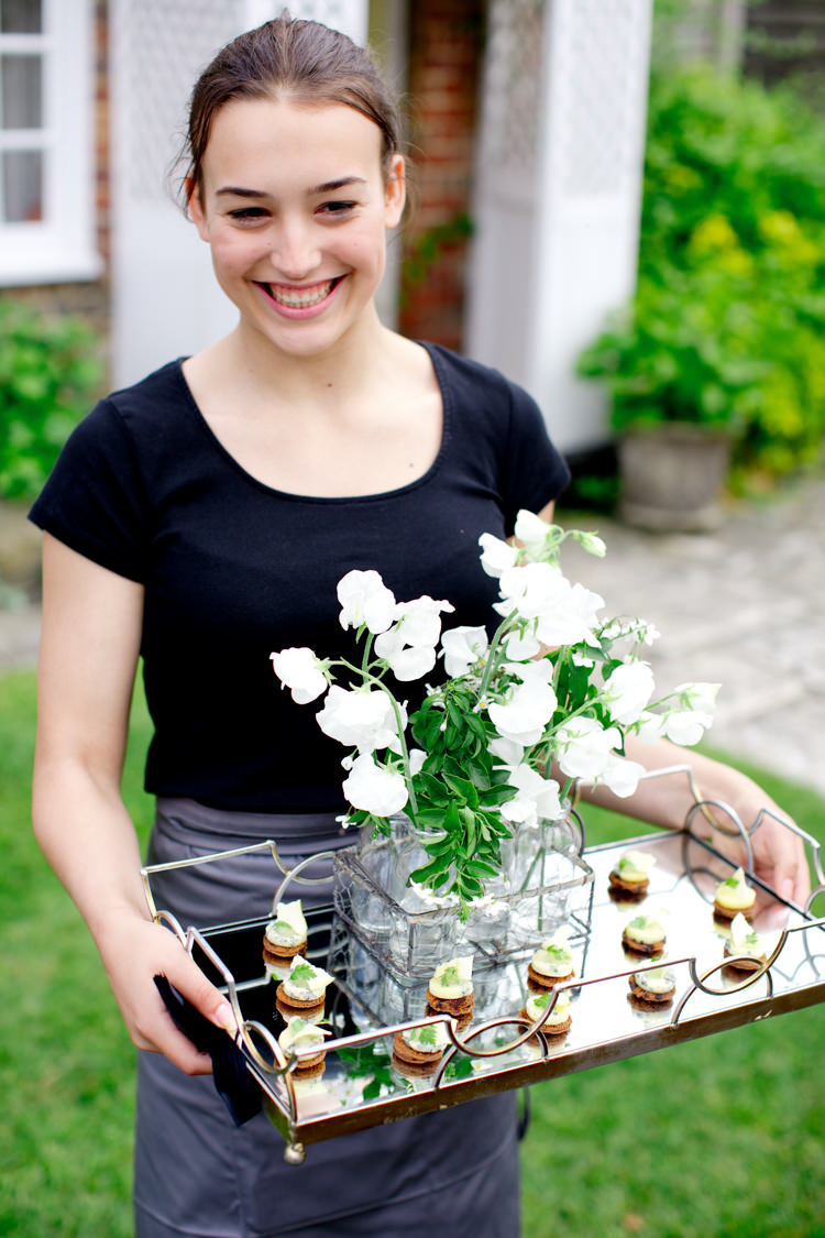 Canapes Food Tray Flowers Modern Simple Colourful Garden Wedding http://www.helencawte.com/