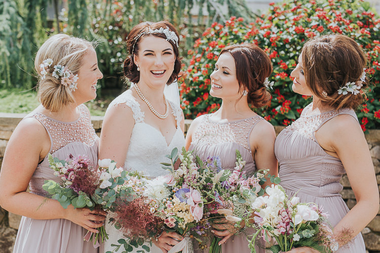 Dusky Pink Bridesmaid Dresses Non-Traditional Country Party Barn Wedding Yorkshire http://www.lauracalderwood.co.uk/