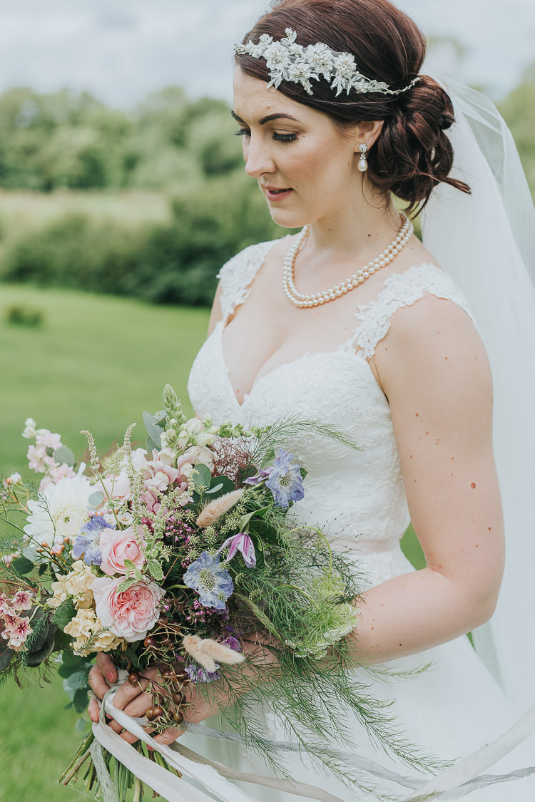 Hair Make Up Bride Bridal Non-Traditional Country Party Barn Wedding Yorkshire http://www.lauracalderwood.co.uk/