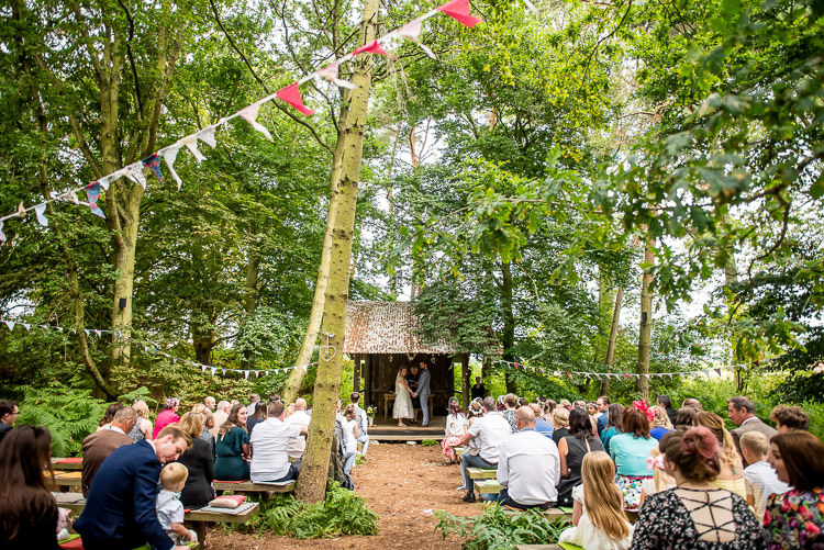 Outdoor Woodland Ceremony Mismatched Colourful Wildflower Meadow Wedding Hush Venues Norfolk http://lighteningphotography.co.uk/