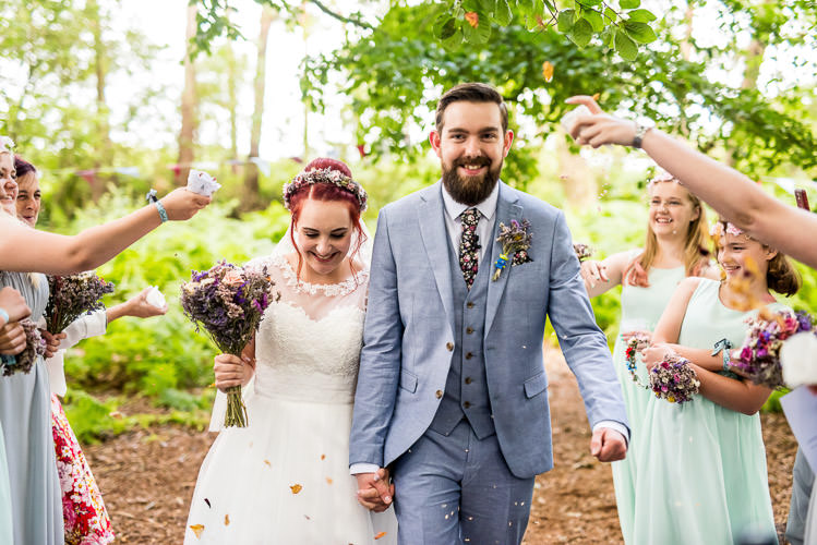 Confetti Throw Mismatched Colourful Wildflower Meadow Wedding Hush Venues Norfolk http://lighteningphotography.co.uk/