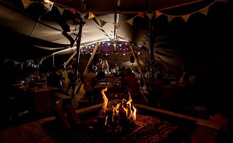 Fire Pit Tipi Mismatched Colourful Wildflower Meadow Wedding Hush Venues Norfolk http://lighteningphotography.co.uk/