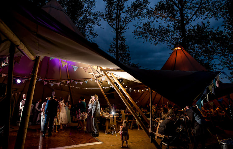 Tipi Lighting Bunting Mismatched Colourful Wildflower Meadow Wedding Hush Venues Norfolk http://lighteningphotography.co.uk/