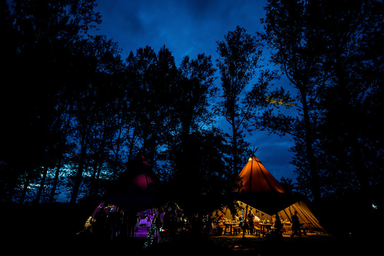 Tipi Lights Woodland Mismatched Colourful Wildflower Meadow Wedding Hush Venues Norfolk http://lighteningphotography.co.uk/