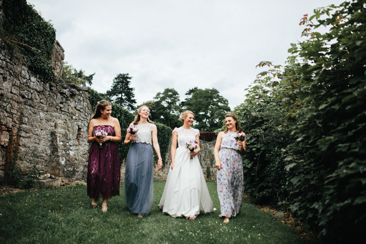 Katya Katya Shehurina Dress Cap Sleeve Lace Overlay Bouquet Wild Flowers Floral Mismatched Bridesmaids Relaxed Natural Local Country Marquee Wedding http://francescahillphotography.com/