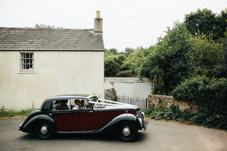 Bridal Transport Car Vintage Relaxed Natural Local Country Marquee Wedding http://francescahillphotography.com/