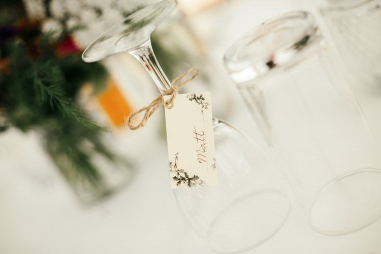 Place Card Name Tag Calligraphy Relaxed Natural Local Country Marquee Wedding http://francescahillphotography.com/