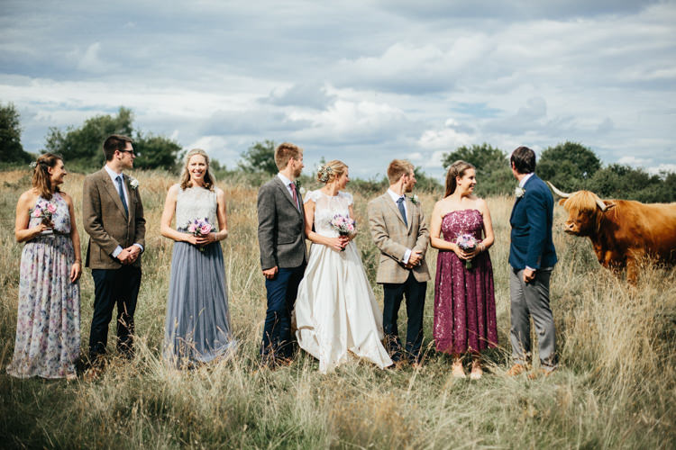 Katya Katya Shehurina Dress Cap Sleeve Lace Overlay Chinos Groom Mismatched Groomsmen Floral Bridesmaids Photobomb Relaxed Natural Local Country Marquee Wedding http://francescahillphotography.com/