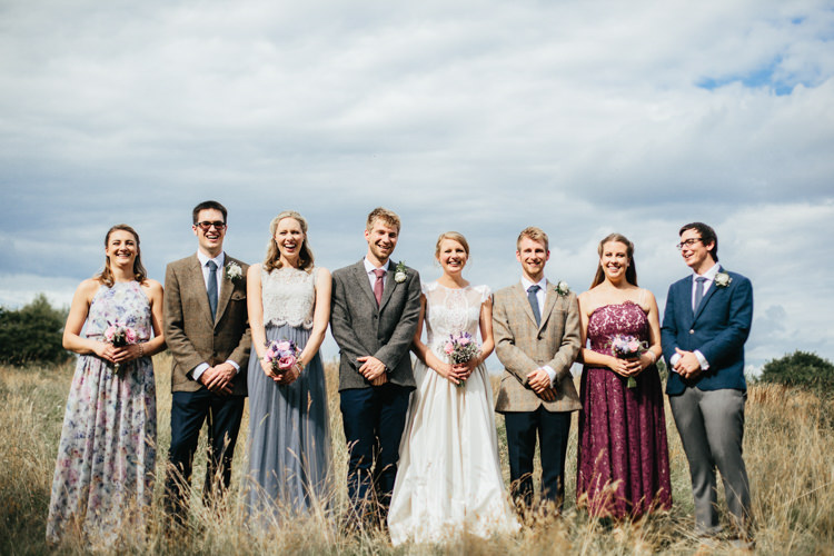 Bride Bridal Katya Katya Shehurina Dress Gown Mismatched Floral Bridesmaids Groom Groomsmen Posy Bouquet Wild Flowers Relaxed Natural Local Country Marquee Wedding http://francescahillphotography.com/
