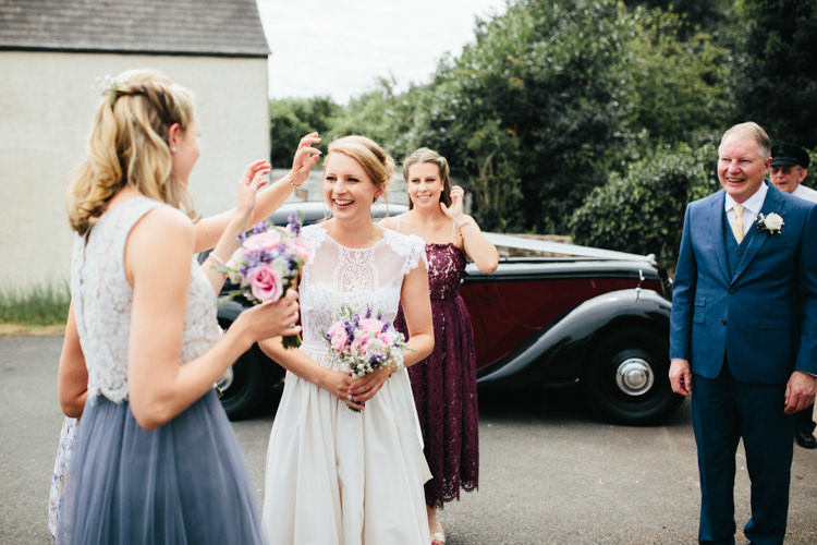Katya Katya Shehurina Dress Cap Sleeve Lace Overlay Floral Wild Flowers Mismatched Bridesmaids Relaxed Natural Local Country Marquee Wedding http://francescahillphotography.com/