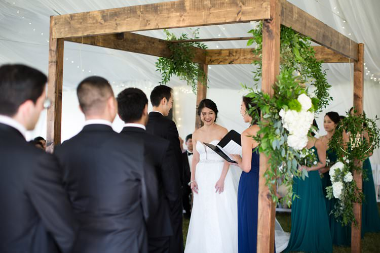 Outdoor Field Rustic Marquee Tipi Tent Wood Greenery Lanterns White Florals Arch | Black Tie Carnival Wedding Hot Air Balloon http://www.makingthemoment.com/