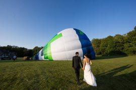 Black Tie Carnival Wedding Hot Air Balloon http://www.makingthemoment.com/
