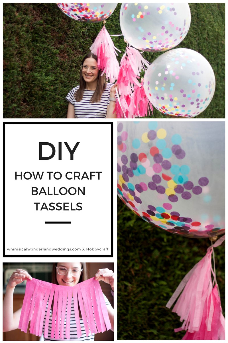 DIY Tissue Paper Tassels Balloons Giant Wedding Tutorial How To Confetti Helium
