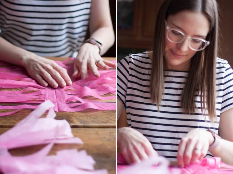 DIY Tissue Paper Tassels Balloons Giant Wedding Tutorial How To