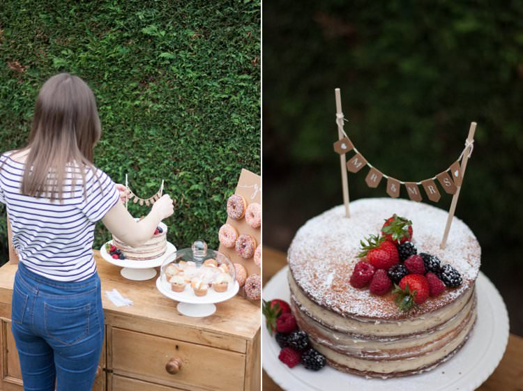 DIY Wedding Dessert Table Tutorial Cake