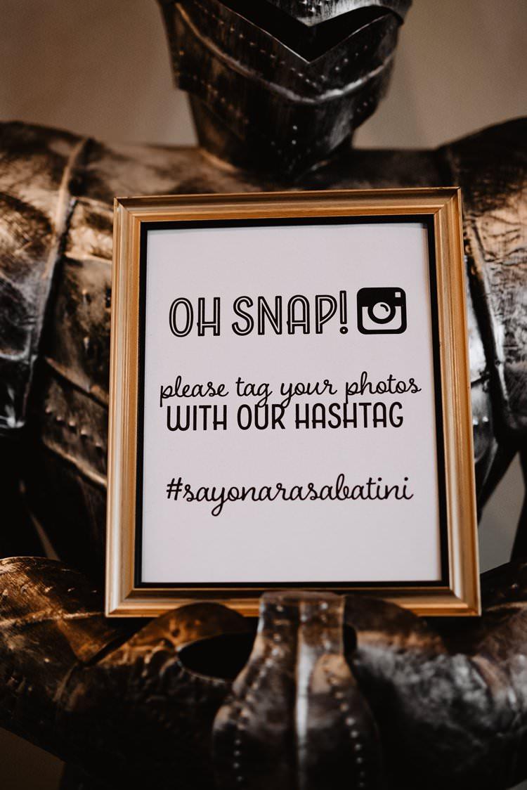 Oh Snap Hashtag Social Sign Photo Sharing Instagram Sign Gold Frame | Dreamy Blush Emerald Fairytale Wedding Oklahoma http://www.kelcyleighphotography.com/