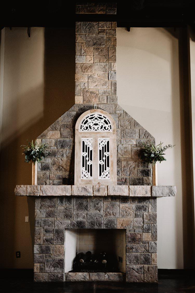 Castle Inspired Romantic Decor Glass Window Ceremony Backdrop Aisle Mantlepiece | Dreamy Blush Emerald Fairytale Wedding Oklahoma http://www.kelcyleighphotography.com/