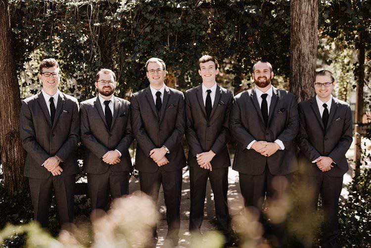 Outdoor Destination Classic Neutral Simple White Black Romantic Groom Groomsmen Suit | Dreamy Blush Emerald Fairytale Wedding Oklahoma http://www.kelcyleighphotography.com/