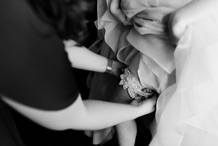 Outdoor Destination Classic Pink Bride Gown Neutral Simple White Garter | Dreamy Blush Emerald Fairytale Wedding Oklahoma http://www.kelcyleighphotography.com/