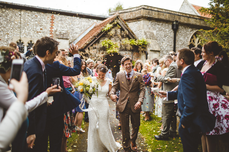 Confetti Throw Relaxed Country Tipi Yellow Wedding Hampshire https://photography34.co.uk/