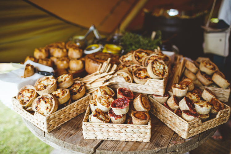 Picnic Buffet Food Relaxed Country Tipi Yellow Wedding Hampshire https://photography34.co.uk/