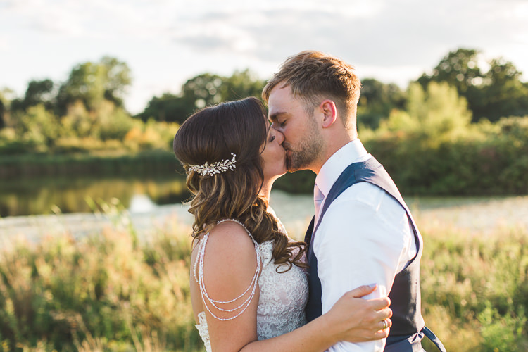 Bride Bridal Sottero & Midgeley Dress Gown Lace Shoulder Detail Richard James Suit Three Piece Waistcoat Blue Groom Colourful Outdoor Tipi Farm Wedding https://kirstymackenziephotography.co.uk/
