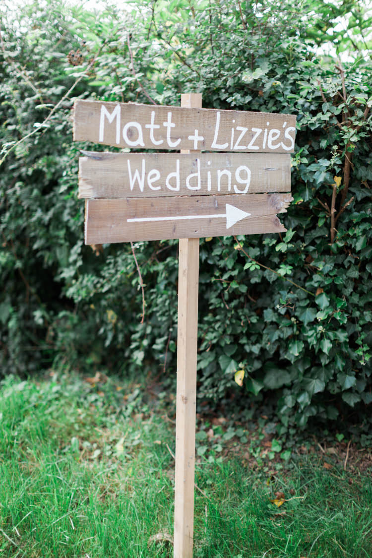 Rustic Wooden Sign Post Painted Hazy Summer Lavender Grey Wedding Cripps Barn Cotswolds http://jobradbury.co.uk/