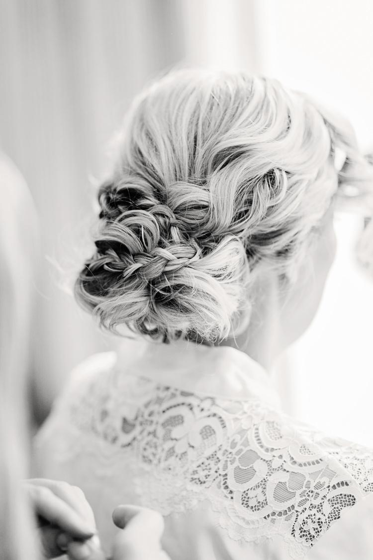 Hair Bride Bridal Up Do Style Hazy Summer Lavender Grey Wedding Cripps Barn Cotswolds http://jobradbury.co.uk/