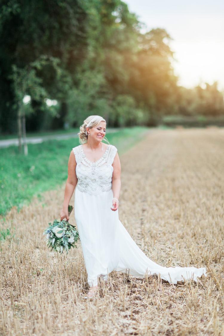 Anna Campbell Dress Gown Beaded Bride Bridal Hazy Summer Lavender Grey Wedding Cripps Barn Cotswolds http://jobradbury.co.uk/