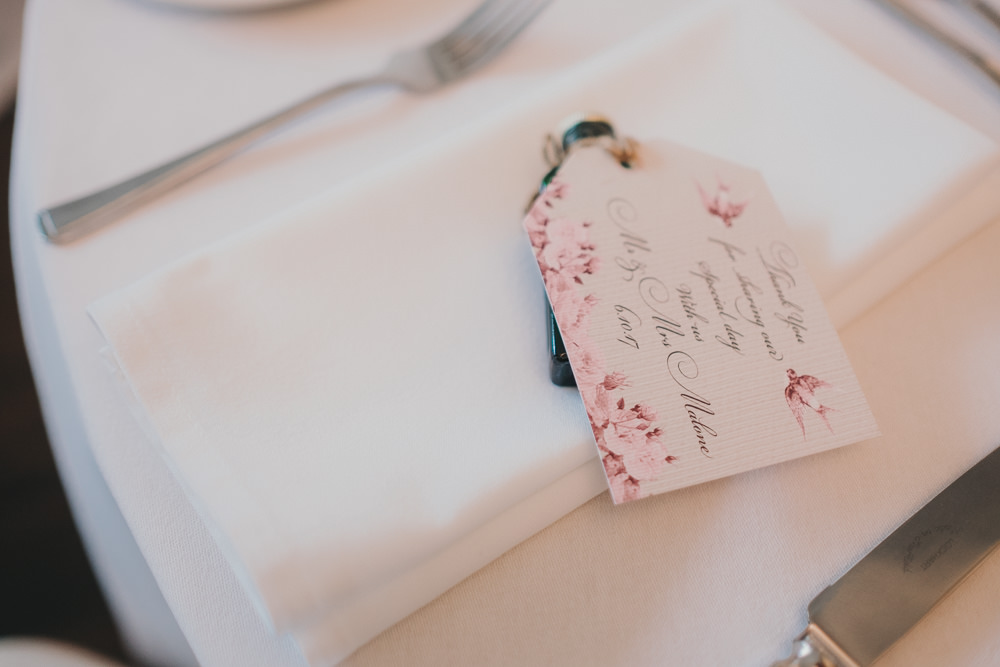 Dinner Reception Classic Elegant Stationery Pink Flowers Floral | Ashfield House Wedding Kate McCarthy Photography